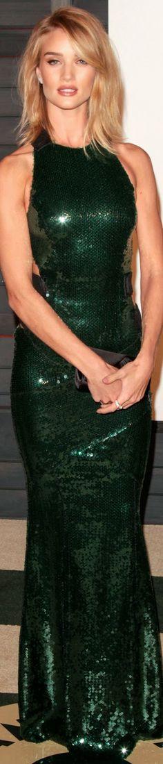 Rosie Huntington Whiteley 2015 Vanity Fair Oscar Party /  Rosie Huntington-Whiteley in Alexandre Vauthier