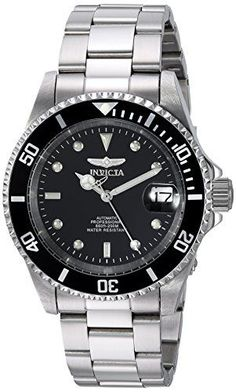 Invicta Men's Pro Diver Stainless Steel Automatic Watch with Link Bracelet mens watches popular mens watches black cool mens watches watch men best mens watches men watches male watches nice watches for men Sport Watches, Cool Watches, Watches For Men, Wrist Watches, Women's Watches, Casual Watches, Fashion Watches, Invicta Pro Diver Automatic, Automatic Watch