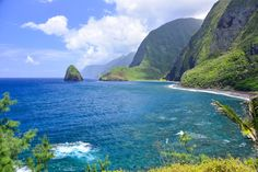 The view from Kalaupapa Molokai Hawaii  a former leper colony at the base of towering sea cliffs [30002003] [OC] #reddit