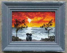Arte de guijarro roca guijarro arte par par de arte del