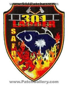 Saint Andrews Fire Department Ladder 301 Company Station Patch South Carolina SC