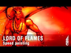 Speed painting practice no.35 Lord of flames - YouTube
