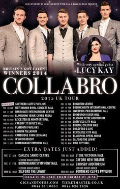 Britain's Got Talent winners Collabro have extended their upcoming UK tour, confirming a string of new dates for January, February and March...