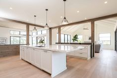 A Calm Contemporary Home in Northern California Interior Design Gallery, Group Photography, Kitchen Island Lighting, Kitchen Fixtures, Pork Belly, Northern California, Great Rooms, Kitchen Contemporary, Studio