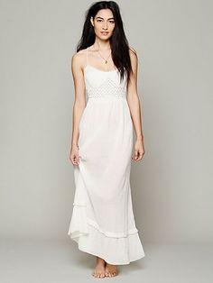 Smocked Gauze Sleep Dress free people perfect bohemian wedding dress!