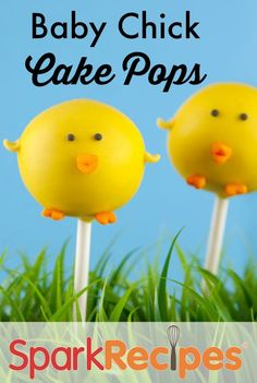 Baby Chick Cake Pops!! How cute are these??  via @SparkPeople #spring #food #recipes #dessert