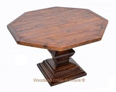 Octagon Elegant Barn Wood Table