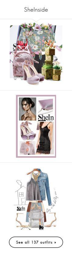 """SheInside"" by cinderella-slipper ❤ liked on Polyvore featuring Pilot, JustFab, Jewelonfire, Boohoo, Aqua, Cape Robbin, LE3NO, Warehouse, Lancôme and Miu Miu"