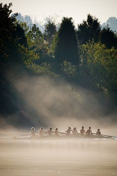 Rowers on a foggy lake | Flickr - Photo Sharing!