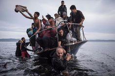 16 novembre 2015, des migrants arrivent sur l'île de Lesbos