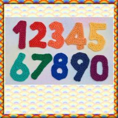 crochet knitting apply crochet letters and numbers crochet numbers ...