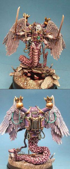 Fulgrim Slaanesh Daemon Prince Bronze 40K