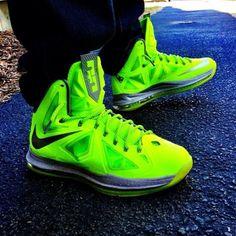 Nike LeBron X Volt #lebron #nike #sneakers