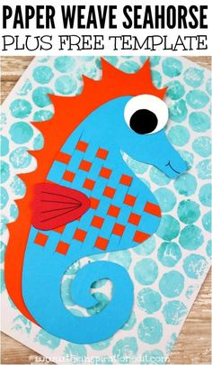 Fantastic Paper Weave Seahorse Craft Paper Weave Sea Horse Ocean Craft For Kids This Preschool Paper Weave seahorse Craft is a fabulous Ocean Craft kids activity which is easy and simple to make. Diy Projects For Kids, Paper Crafts For Kids, Easy Crafts For Kids, Craft Activities For Kids, Preschool Crafts, Art For Kids, Arts And Crafts, Craft Kids, Vocabulary Activities