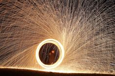 Here& a fun fire project. Make a spinning steel wool sparkler using simple household materials. Take a picture and get a breathtaking photo! Science Activities For Kids, Cool Science Experiments, Science Fair, Science Ideas, Science Jokes, Easy Science, Preschool Science, Class Activities, Elementary Science