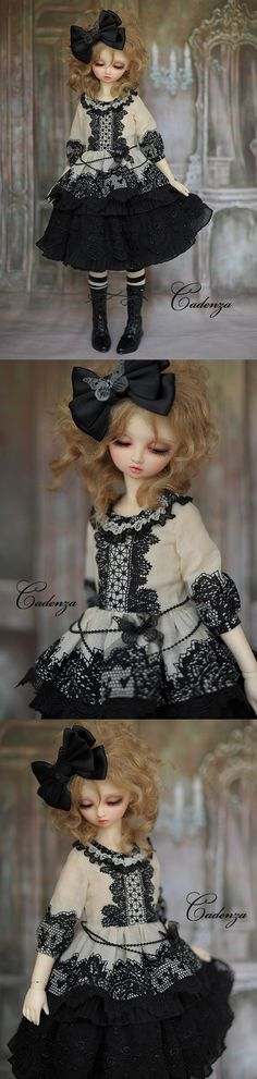 I adore every outfit that this seller puts out. <3 #bjd #super_dollfie #ball_jointed_doll