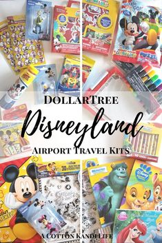 Airport Travel Kits for Disneyland from the Dollartree. Disney at the Dollar Tree. How to pack for Disneyland. Fun Kits for kids. Going to Disneyland kits. Activity Kits for Kids. Airplane Activities, Airplane Kids, Travel Activities, Airplane Travel, Disneyland Trip, Disney Vacations, Disney Trips, Vacation Places, Travel Kits