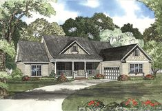 Elevation of Cape Cod   Country   Craftsman   Traditional   House Plan 62306