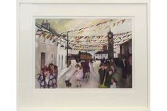 GILL WATKISS. 'St. Just celebration.' Limited edition coloured print. Signed, titled & No. 15/50. The Saleroom, Love Photos, Cornwall, Celebration, Auction, Paintings, Artists, Signs, Studio