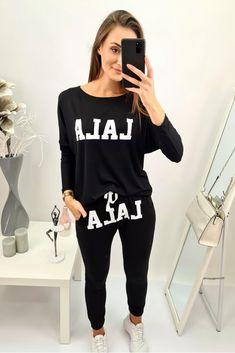 Dámska tepláková súprava Lala Graphic Sweatshirt, T Shirt, Sweatshirts, Sweaters, Tops, Women, Fashion, Supreme T Shirt, Moda