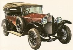 Vintage Cars, Antique Cars, Car Drawings, Automotive Art, Car Manufacturers, Cars And Motorcycles, Vintage Posters, Gold Cars, Classic Cars