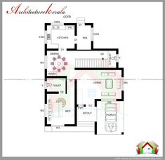 1700 Sq Ft House Plan 4 Bed Room With Attached Bathroom Living And