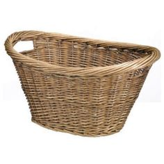 Large Wicker Willow Basket Oval Storage with Handle Log Toy Laundry Hamper - to hold wedding favours