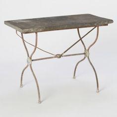 Terrain Slate Bistro Table #shopterrain-  29h x 39w x 19d  slate and iron 1498