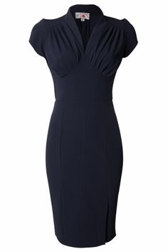 Miss Candyfloss - 50s Mavis blue pencil dress
