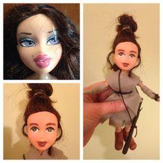 Handmade Rey doll from upcycled Bratz doll! Sold on Etsy #StarWars