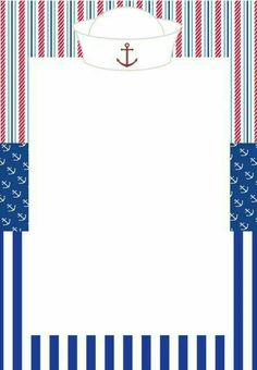 Nautical Cards, Nautical Baby, Nautical Theme, Sailor Party, Sailor Theme, Baby Shower Parties, Baby Boy Shower, Baby Shower Marinero, Sailor Baby Showers