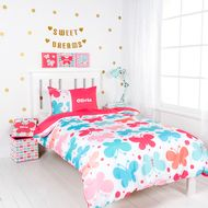 Our rainbow coloured Butterfly Kisses quilt cover set lets you add an element of joy and playfulness to your child's bedroom. With a bed set so cute, sweet dreams are guaranteed every night of the week.