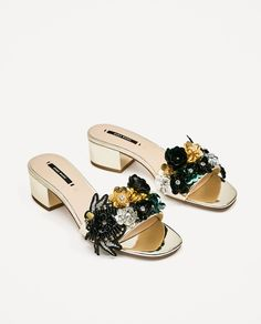 ZARA - WOMAN - BEADED VAMP AND HEEL SANDALS