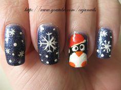 Nailart: Let it snow *Penguin* - Nail Art Gallery by NAILS Magazine