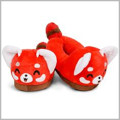 Red Panda Slippers