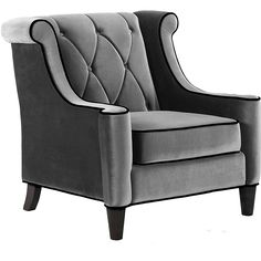 Armen Living - Barrister Arm Chair would look perfect in my living room! Grey Velvet Chair, Velvet Armchair, Grey Chair, Green Velvet, Velvet Chairs, Gray Armchair, Wingback Armchair, Black Velvet, My Living Room