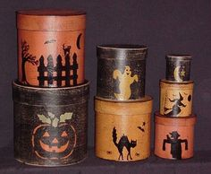 Traditional Halloween Shaker Boxes