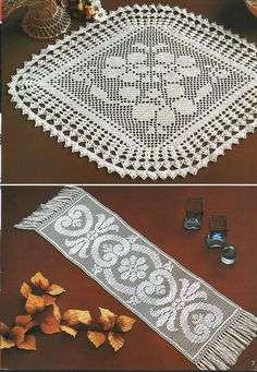 crochet doily and runner free charted pattern Crochet Dollies, Crochet Doily Patterns, Crochet Motif, Crochet Designs, Knit Crochet, Filet Crochet, Crochet Chart, Thread Crochet, Crochet Stitches