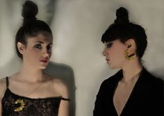 Aliki 'n' the Jaz rabbit - round NYC 18-karat yellow gold-patinated silver pendant & earrings www.alikistroumpouli.com Silver Jewellery, Jewelry, Pendant Earrings, Rabbit, Nyc, Yellow, Gold, Fashion, Bunny