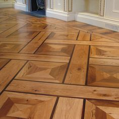 Parquet - Concentric oak boxes with wedge detail