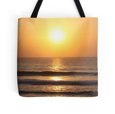 'Kawana Sunrise II' Tote Bag by Debbie Widmer Sunrise, Surfing, Tote Bag, Beach, Photography, Image, Photograph, The Beach, Fotografie