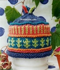 NobleKnits Yarn Shop  - Cabin Fever - Colour Me Bright Adult Hat Pattern