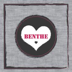 Geboortekaartje Benthe www.hetuilennestje.nl Linnen, hartje.