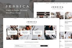 Jessica - Simple & Elegant WP Theme by GiaThemes on @creativemarket