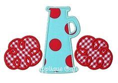 Megaphone 2 Applique - 3 Sizes! | Cheer | Machine Embroidery Designs | SWAKembroidery.com Applique Cafe