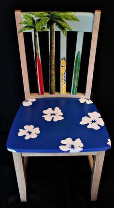 Hand Painted Surfboard Chair - The Hawaiian Home