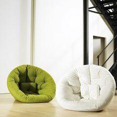 Nesting futon chairs. Super fun!