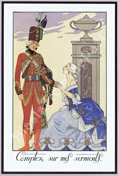 Items similar to Vintage ART DECO Print, Pl 23 'Sont-ils Gentils (Aren't They Sweet)' and 'Comptez Sur Mes Serments (I Will Keep my Vows)', Barbier, Lovers on Etsy Decoupage, Art Deco Print, French Artists, Vintage Prints, Vintage Art, Retro, New Art, Find Art, Fine Art America