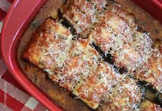 Dinner Under 350 Calories - Best Skinny Eggplant Rollatini with Spinach