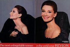 The Most Unforgettable Women in the World Wear Revlon.  Audrey.